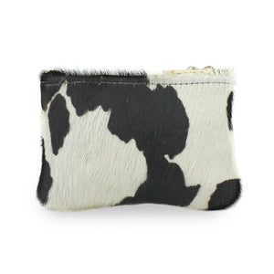 Jane Coin Purse - Black Cow Print