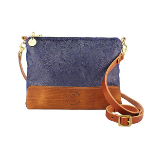 Octavia Cross Body Bag - Blue Paisley Sparkle