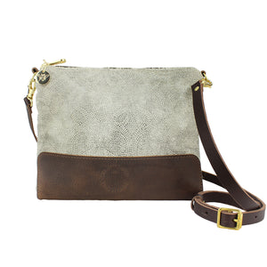 Octavia Cross Body Bag - Silver Paisley Sparkle