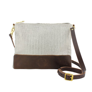 Octavia Cross Body Bag - Silver Herringbone Sparkle