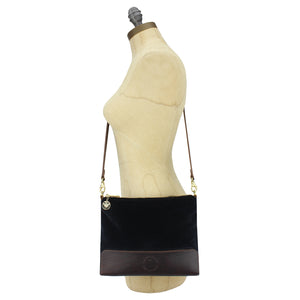 Octavia Cross Body Bag - Black Velvet