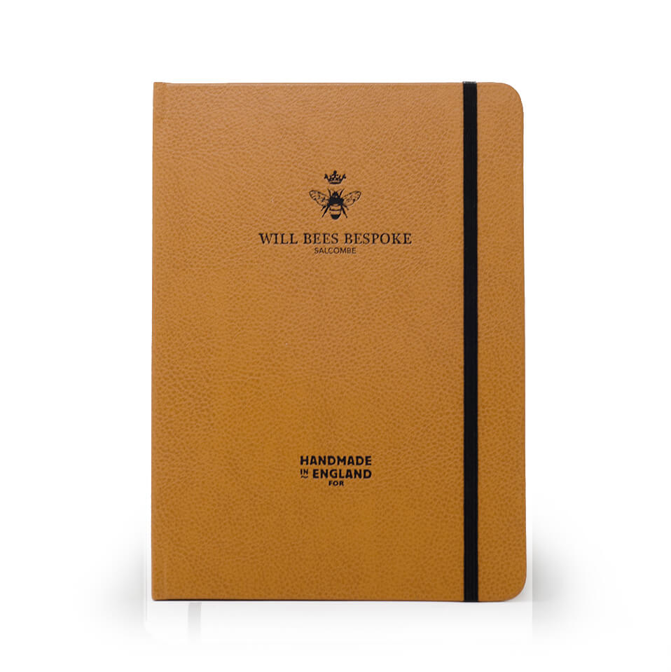Crown Notebook - Recycled Leather in Tan
