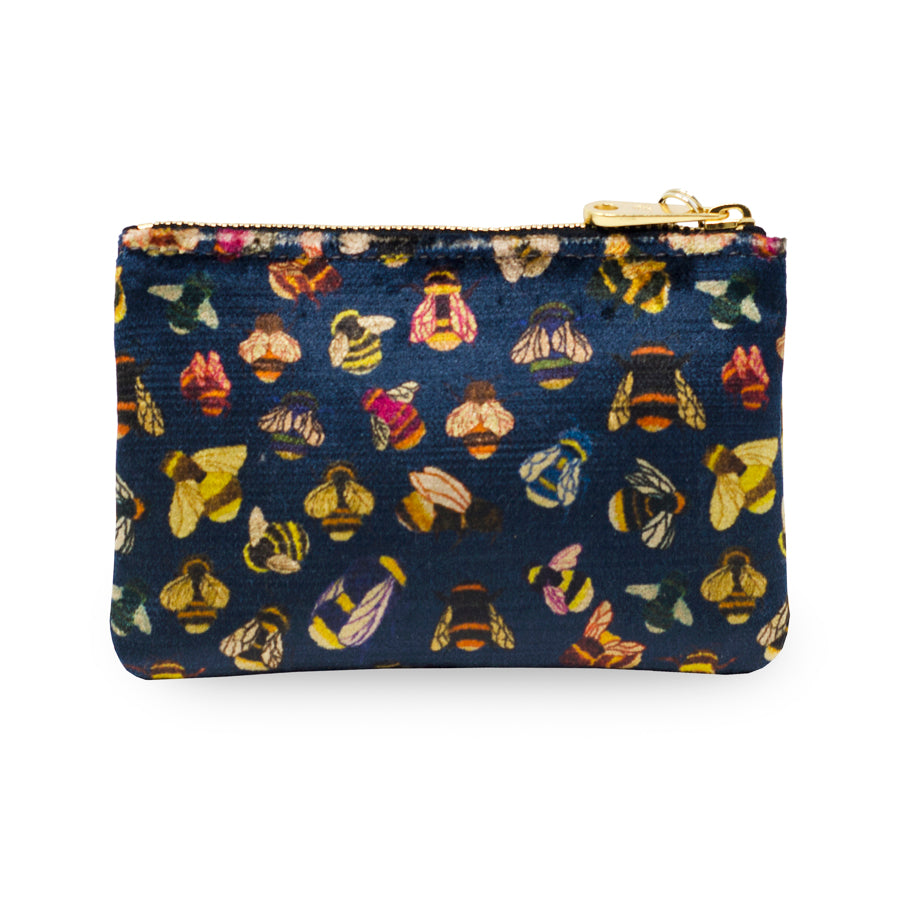 Jane Coin Purse - Bee party in Midnight sky