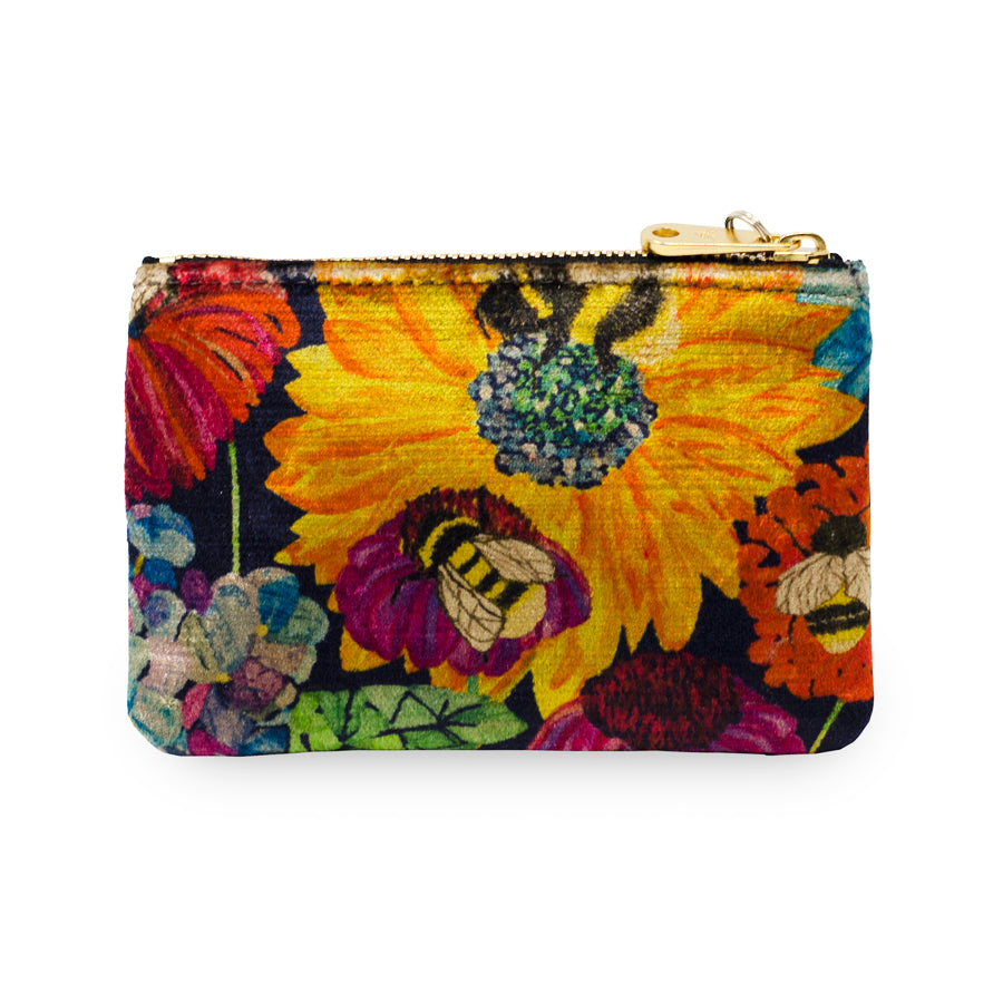 Jane Coin Purse - Bumblebee Garden in Midday Sun - Will Bees Bespoke