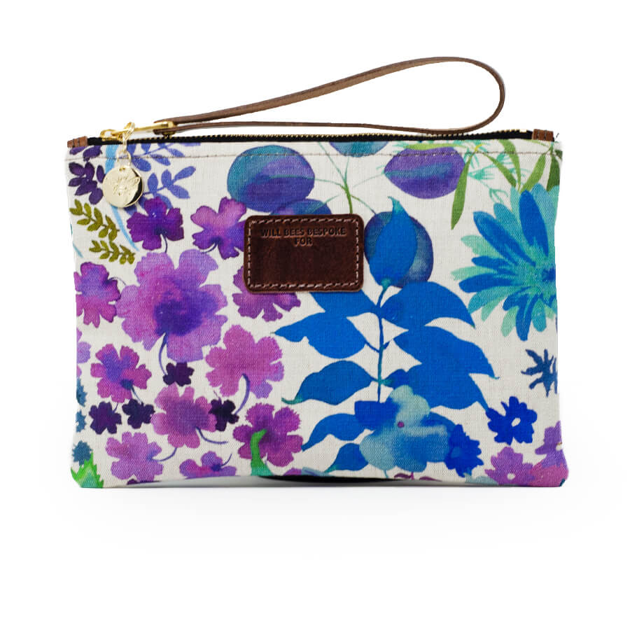 Frances Clutch - Liberty Fresco Lagoon - Will Bees Bespoke