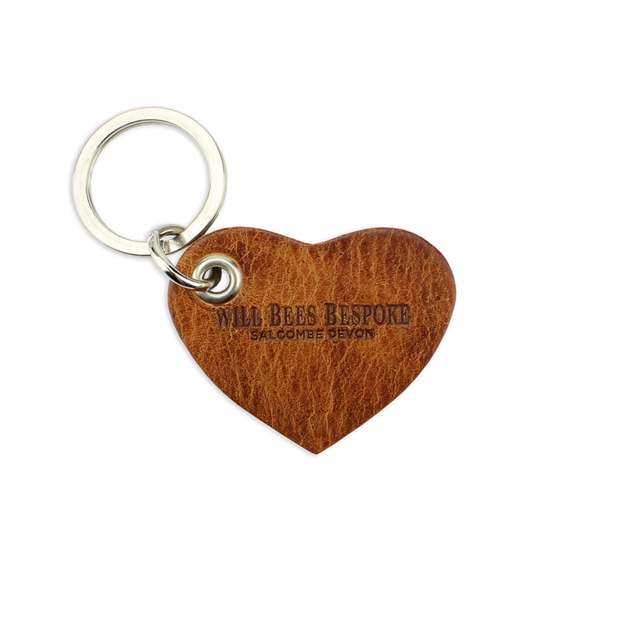 Upcycled Leather Keyring - Tan - Will Bees Bespoke