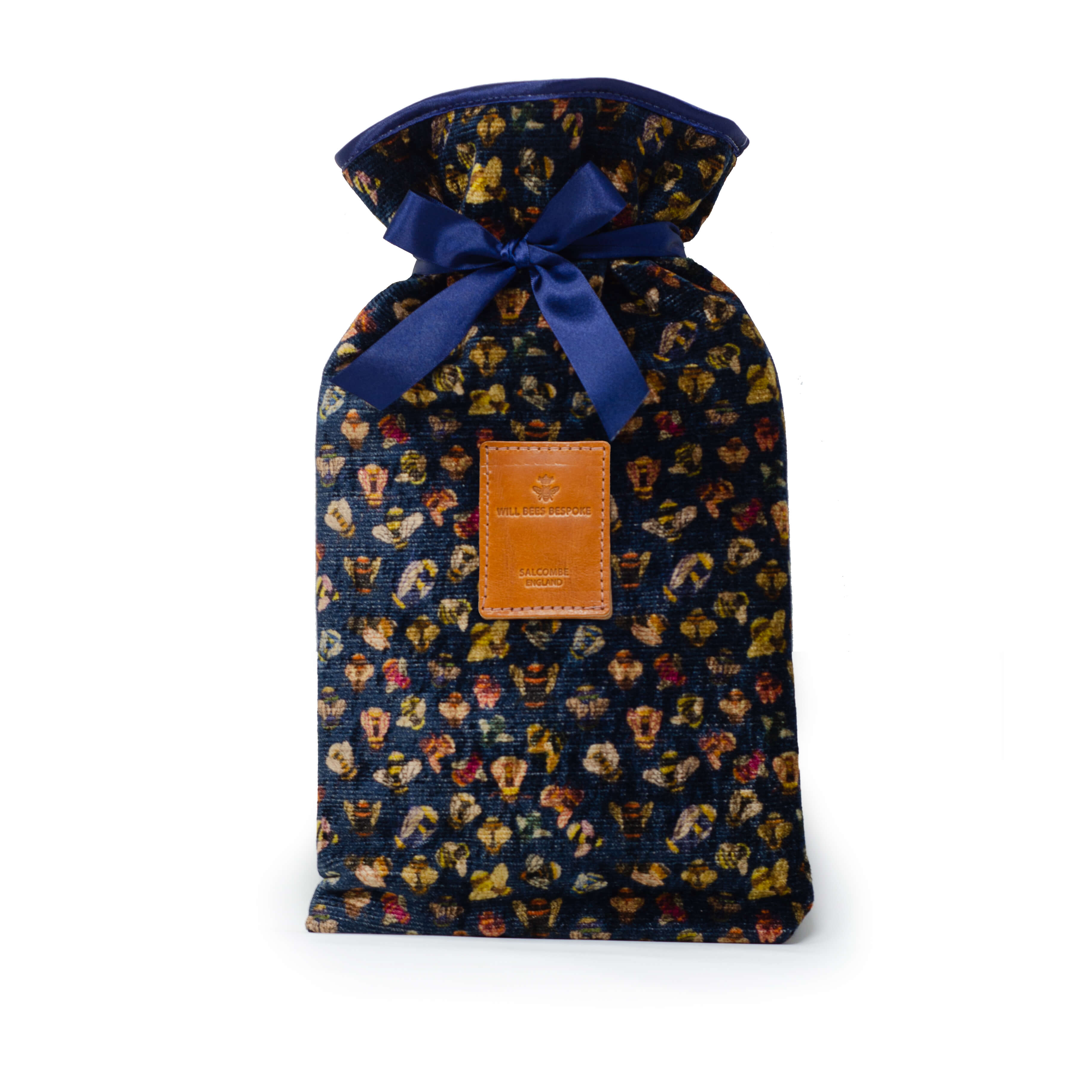 Hot Water Bottle & Cover - Bee party in Midnight sky