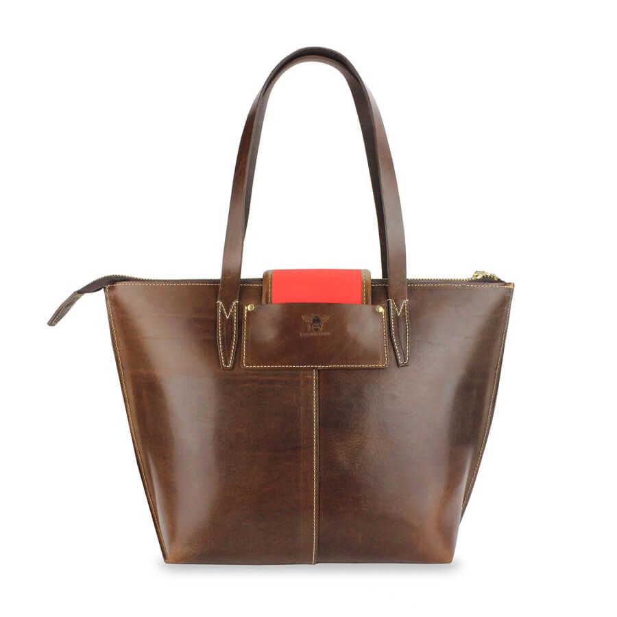 Leather Tote Bag - Will Bees Bespoke