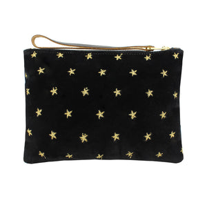 Frances Clutch - Limited Edition - Gold Stars on Black Velvet