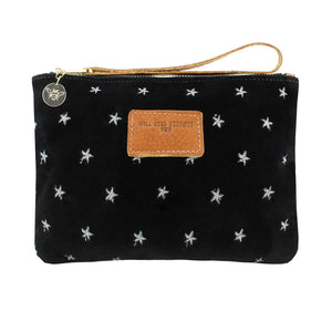 Frances Clutch - Limited Edition - Silver Stars on Black Velvet