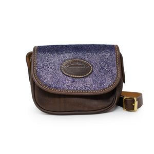 Mini Saddle Bag - Blue Paisley Sparkle