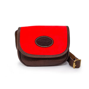 Mini Saddle Bag - Neon Coral Velvet