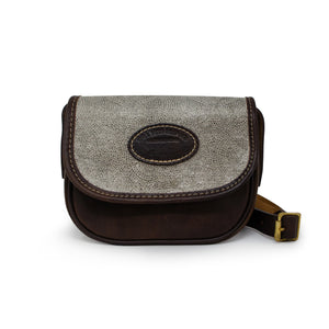 Mini Saddle Bag - Silver Paisley Sparkle