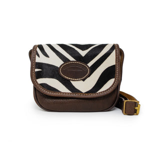 Mini Saddle Bag - Zebra
