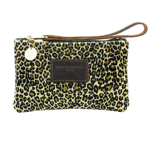 Ada Mini Clutch - Light Leopard Print Velvet