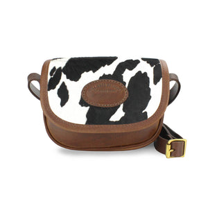 Mini Saddle Bag - Black Cow Print