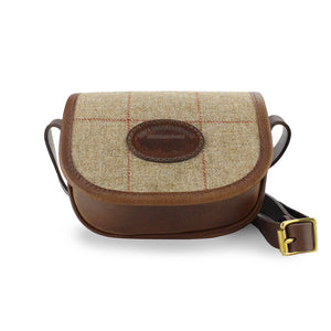 Mini Saddle Bag - Brown Tweed Check
