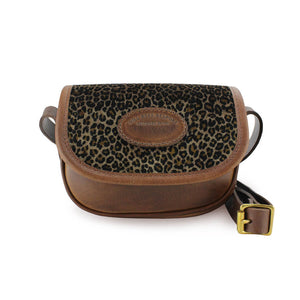 Mini Saddle Bag - Dark Leopard Velvet