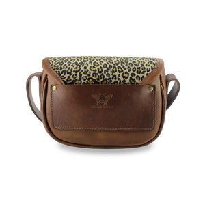 Mini Saddle Bag - Light Leopard Velvet