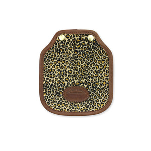 Additional Mini Saddle Bag Panel - Light Leopard Velvet