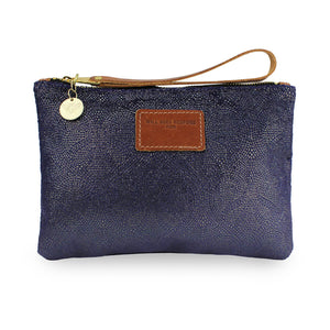 Frances Clutch - Blue Paisley Sparkle
