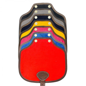 Additional Saddle Bag Panel - Neon Coral Velvet