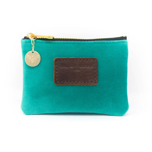 Jane Coin Purse - Teal Velvet