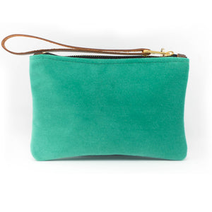 Ada Mini Clutch - Teal Velvet