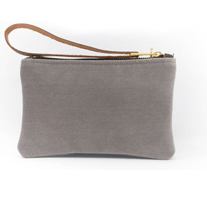 Ada Mini Clutch - Grey Velvet