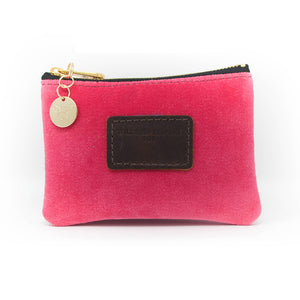 Jane Coin Purse - Pink Velvet