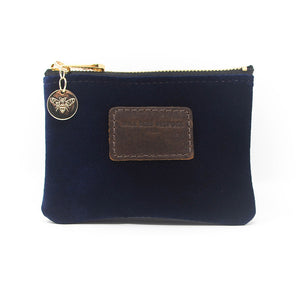 Jane Coin Purse - Navy Velvet