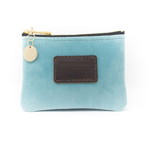 Jane Coin Purse - Pale Blue Velvet