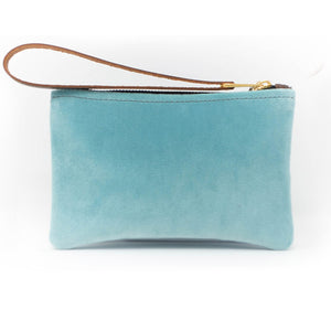 Ada Mini Clutch - Pale Blue Velvet