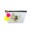Alicia Small Clear Make up Bag - Neon Yellow - Will Bees Bespoke