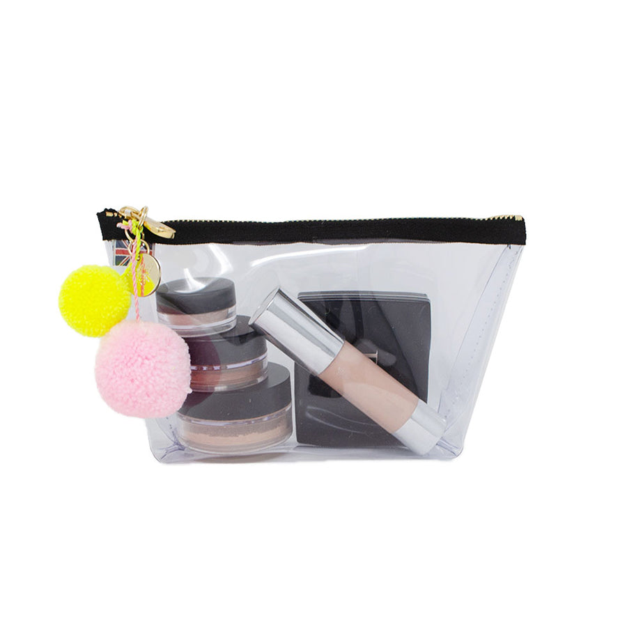 Alicia Small Clear Make up Bag - White - Will Bees Bespoke