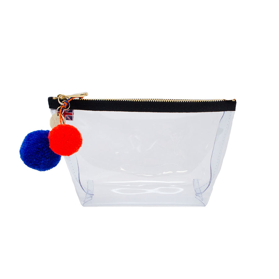 Alicia Small Clear Make up Bag - Black - Will Bees Bespoke