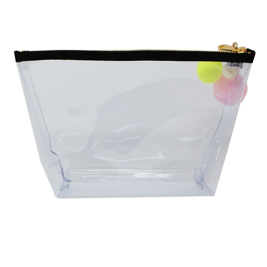 Alicia Large Clear Make up Bag - White - Will Bees Bespoke