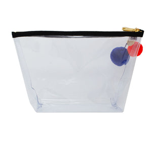 Alicia Large Clear Make up Bag - Black
