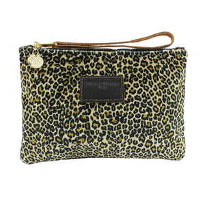 Frances Clutch - Light Leopard Print Velvet