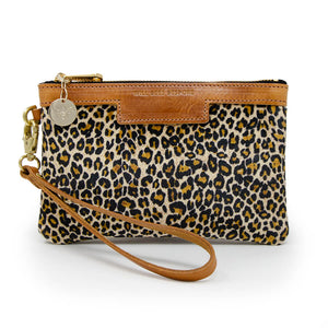 Premium Diana Mini Clutch - Light Leopard Print Velvet