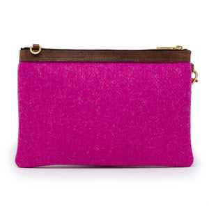 Premium Diana Clutch - Harris Tweed® Bright Pink