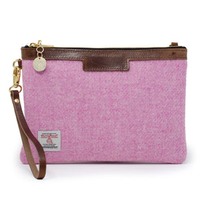 Premium Diana Clutch - Harris Tweed® Light Pink