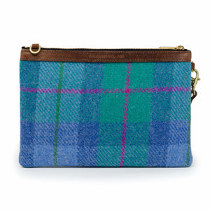 Premium Diana Clutch - Harris Tweed® Blue & Teal