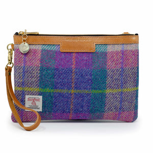 Premium Diana Clutch - Harris Tweed® Pink & Purple