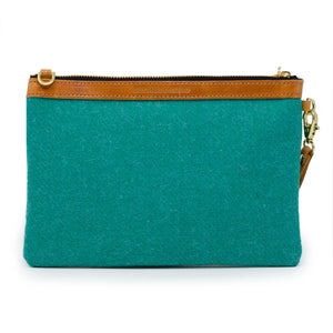 Premium Diana Clutch - Harris Tweed® Teal