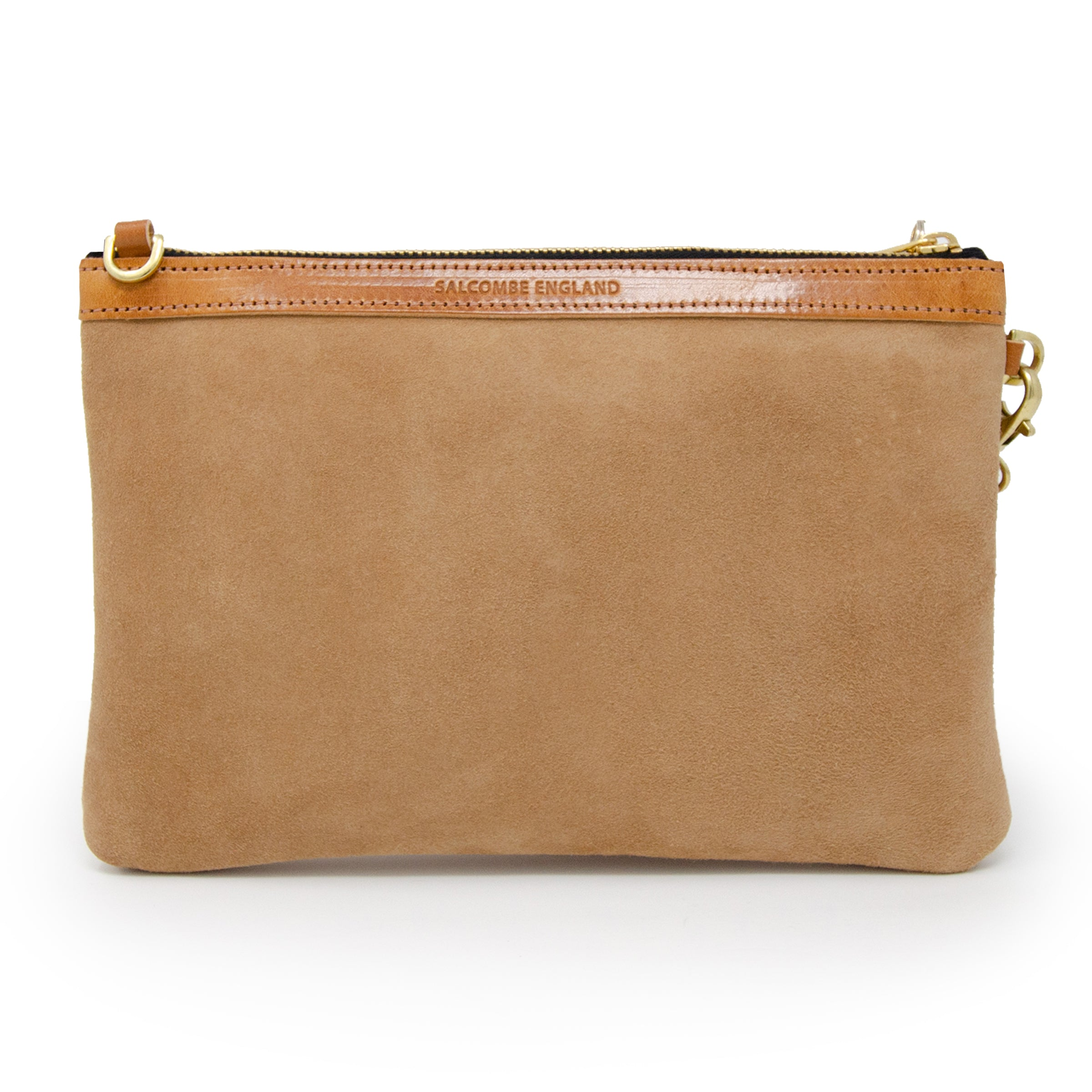Premium Diana Clutch - Camel Suede - Will Bees Bespoke