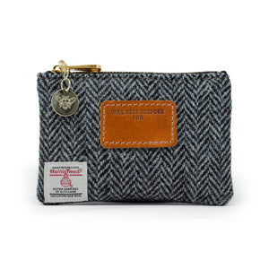Jane Coin Purse - Harris Tweed® Grey Herringbone