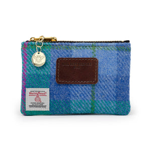Jane Coin Purse - Harris Tweed® Blue & Teal