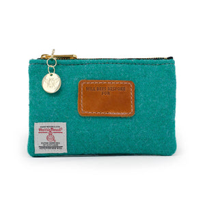 Jane Coin Purse - Harris Tweed® Teal