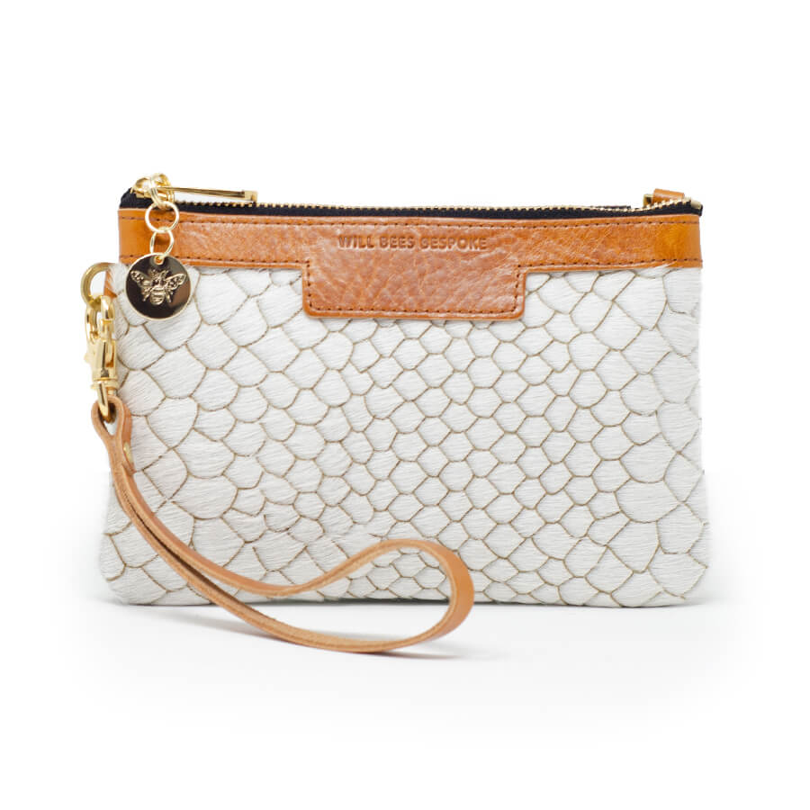 Premium Diana Mini Clutch - White Anaconda